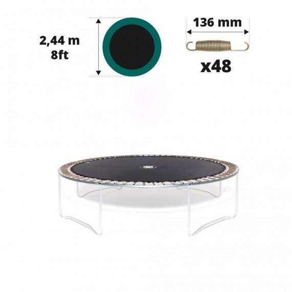 Toile de saut pour trampoline Ø 244 à 48 ressorts 136 mm