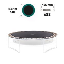 Tela de salto para cama elástica Ø 427 de 88 muelles 136 mm