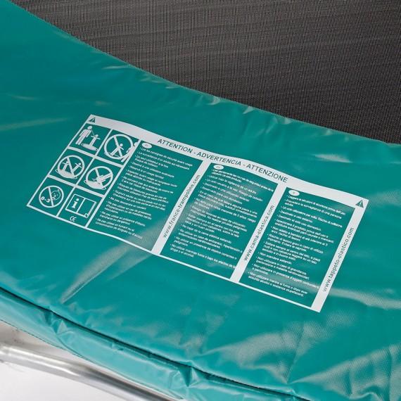 Cojín de protección cama elástica Ovalie 430