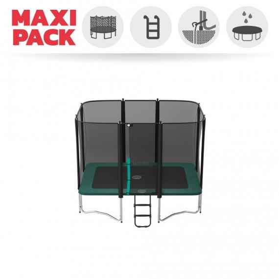 Maxi Pack Cama elástica Apollo Sport 300 con red + Escalera + Kit de fijación + Funda