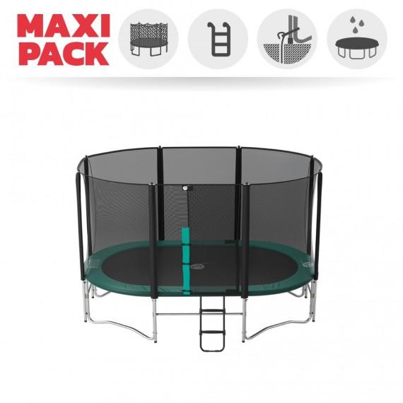 Maxi Pack Ovalie 360 avec filet + Échelle + Kit d'ancrage + Housse