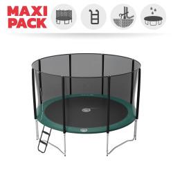 Fijación de los muelles a la estructura y la tela de salto de la cama elástica Jump'up 390