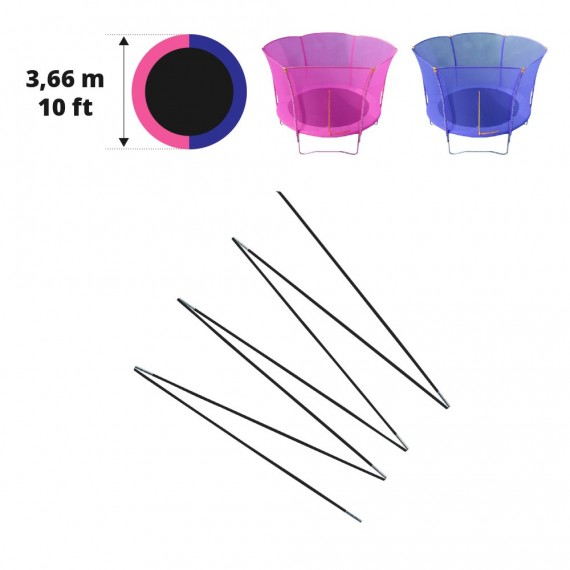 Arcos en fibra de vidrio para red Hip/Hop Ø 366