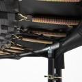 Maxi Pack Cama elástica Booster Black 360 con red + Escalera + Kit de fijación + Funda