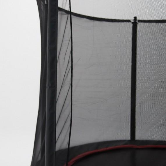 Cama elástica Booster Black 490 con red Premium