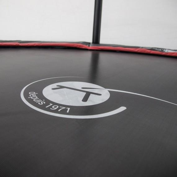 Maxi Pack Cama elástica Booster Black 490 con red + Escalera + Kit de fijación + Funda