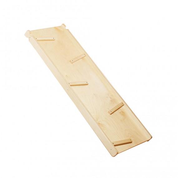 Tobogán de madera de doble cara