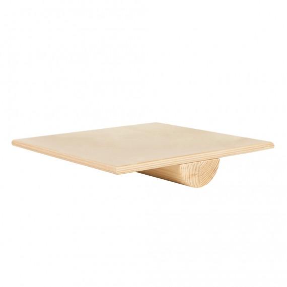 Tablero de equilibrio de madera cuadrado