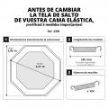 Tela de salto para cama elástica 460 para 110 muelles 210 mm