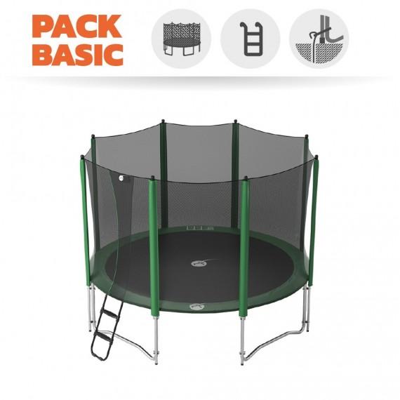 Pack Básico Cama Elástica Access 360 con Red + escalera+ Kit de anclaje