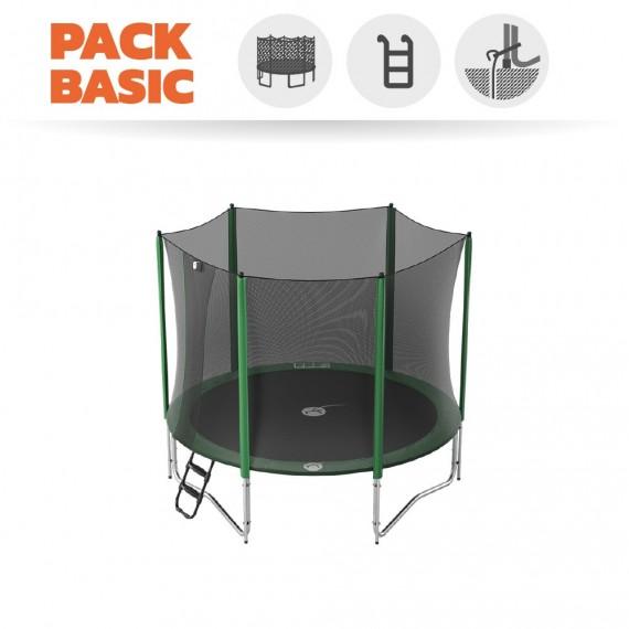 Pack Básico de Cama elástica Access 300 con red + escalera + kit de anclaje