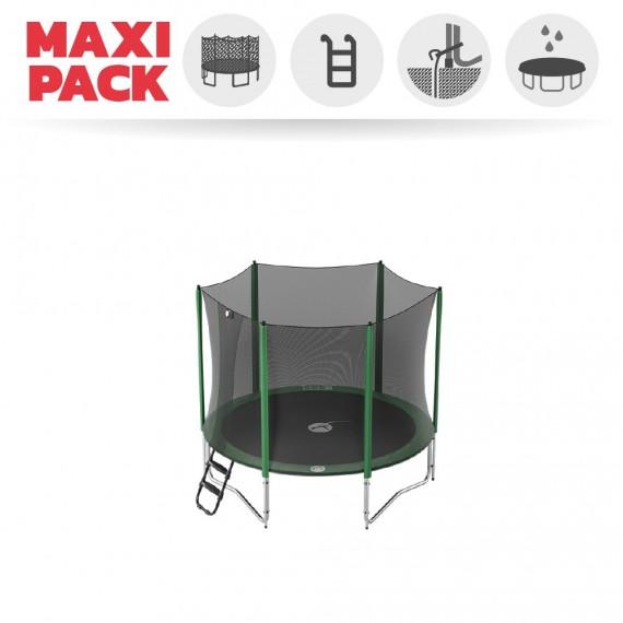 Maxi Pack Cama elástica Access 250 con red + escalerilla + Kit de anclaje + funda básica