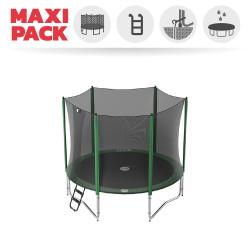 Maxi pack Cama elástica Access 300 con red + escalerilla + kit de anclaje + funda básica