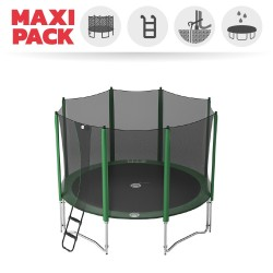 Maxi Pack cama elástica Access 360 con red + escalera + kit de anclaje + funda básica