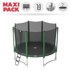Maxi Pack Cama elástica Access 390 con red + escalera + kit de anclaje + funda