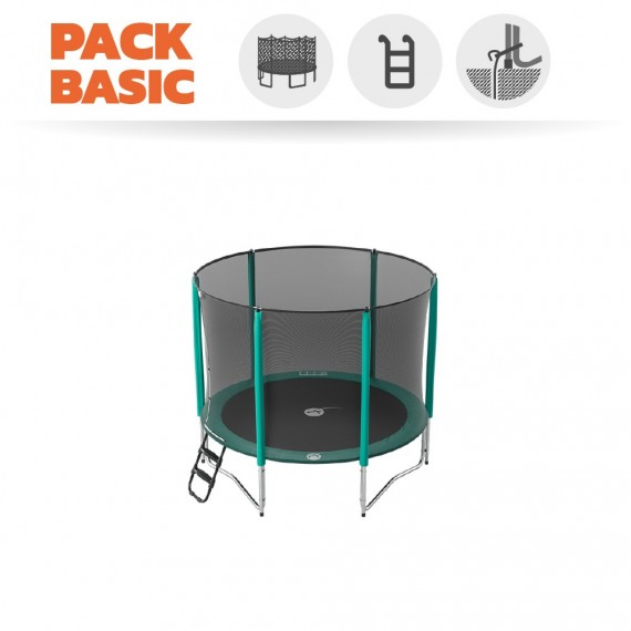 Pack básico Cama elástica Jump'Up 250 con Red + Escalera + Kit de fijación