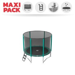 Maxi Pack Cama elástica Jump'Up 250 con Red + Escalera + Kit de fijación + Funda