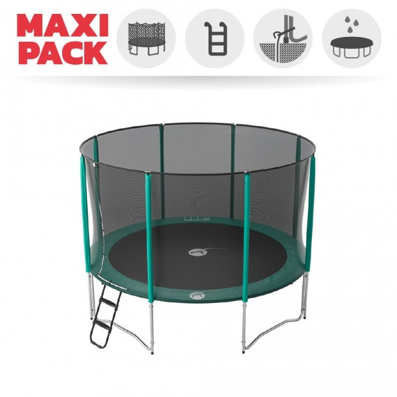 Maxi Pack Cama elástica Jump'Up 360 con Red + Escalera + Kit de fijación + Funda