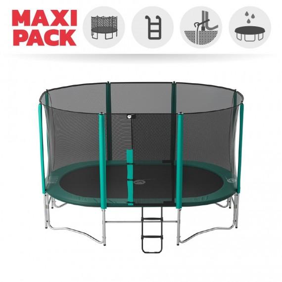 Maxi Pack Ovalie 430 con red + escalera + kit de fijajción + Funda básica