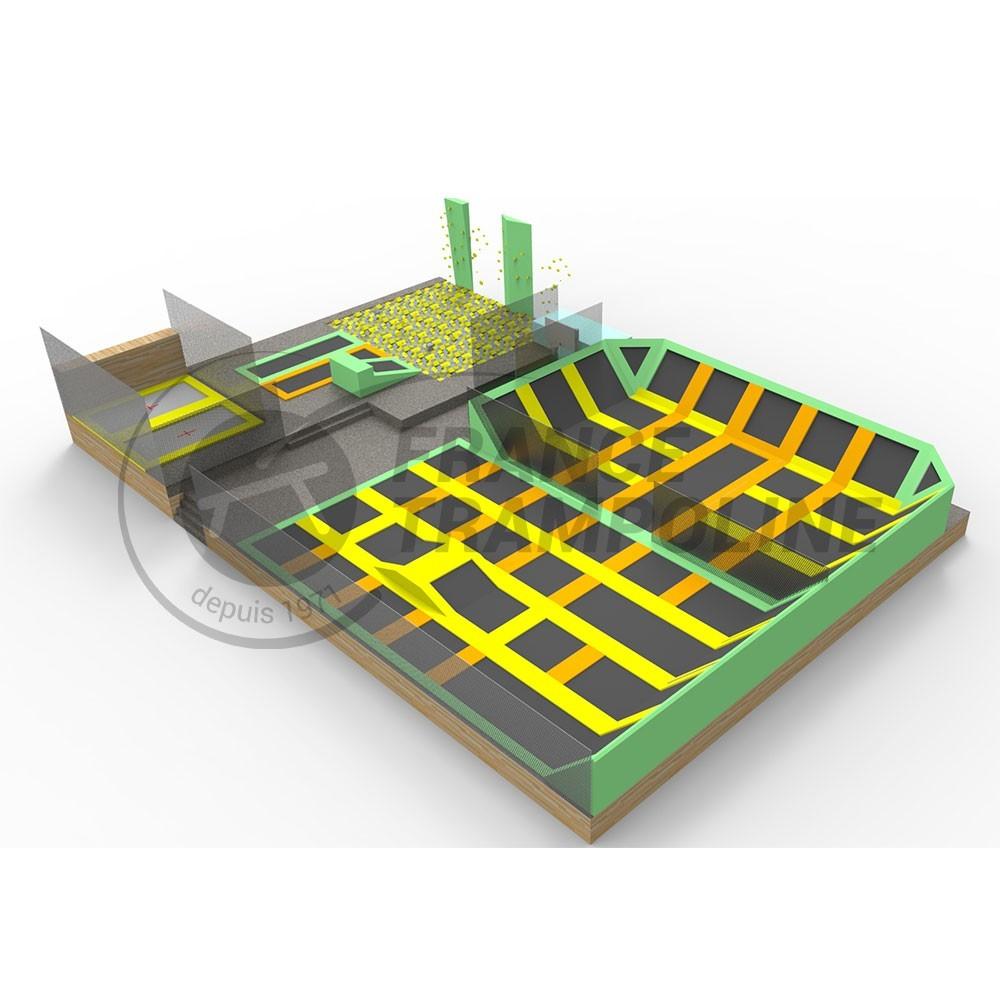 m dulos para trampoline park. Black Bedroom Furniture Sets. Home Design Ideas