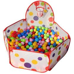 Piscina de bolas niños + 200 bolas multicolor