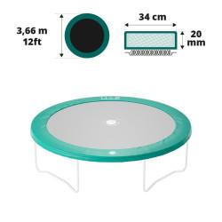 Cojín de protección 360 verde 20mm / 36cm