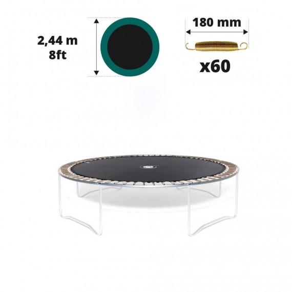 Tela de salto para cama elástica Ø 244 con 60 muelles 180 mm