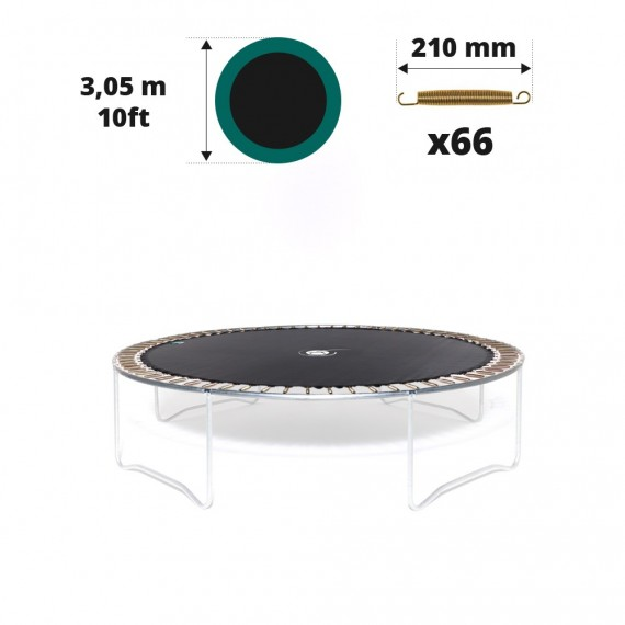 Tela de salto para cama elástica Ø 305 con 66 muelles 210 mm
