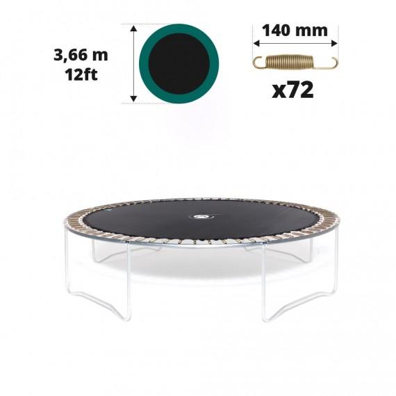 Tela de salto para cama elástica Ø 366 con 72 muelles 140 mm