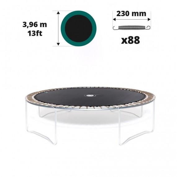 Tela de salto para cama elástica Ø 396 con 88 muelles 230 mm plateados