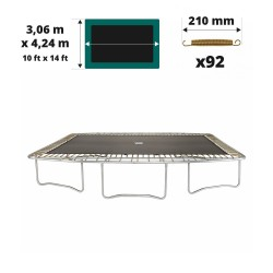 Tela de salto para cama elástica Apollo Sport 400 para 92 muelles 215 mm
