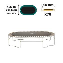 Tela de salto para cama elástica Ovalie 430 para 70 muelles 180 mm