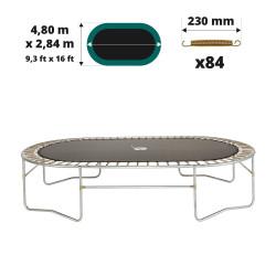 Tela de salto para cama elástica Ovalie 490 para 84 muelles 230 mm