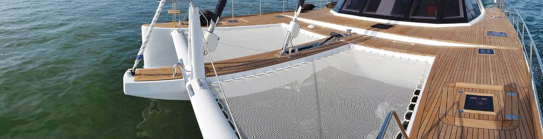 Trampolines & redes para catamaranes