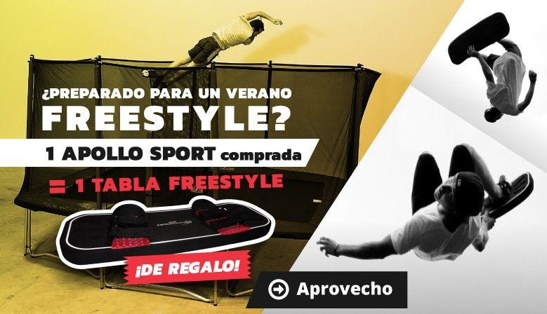 Tabla freestyle por la compra de una cama elástica de la gama Apollo Sport!