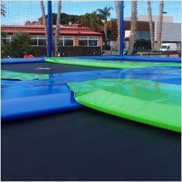 Epaisseur du coussin des trampolines Aéro