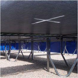 Toiles de saut du trampoline Aéro vue de dessous