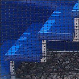 Gros plan sur les marches des trampolines Aéro