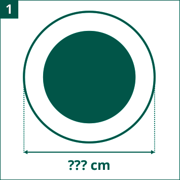 Diagrama diámetro de cama elástica de ocio evaluar