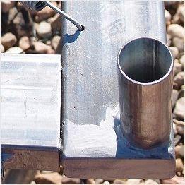 Pieza de unión de una armadura rectangular