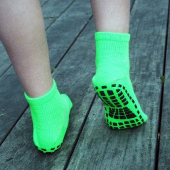 Los calcetines anti-deslizantes