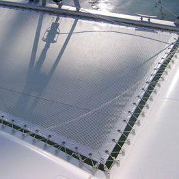 Trampolín en tejido técnico para multicascos a medida